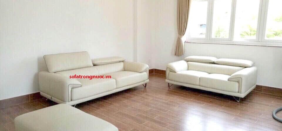 sofa văn phòng trắng