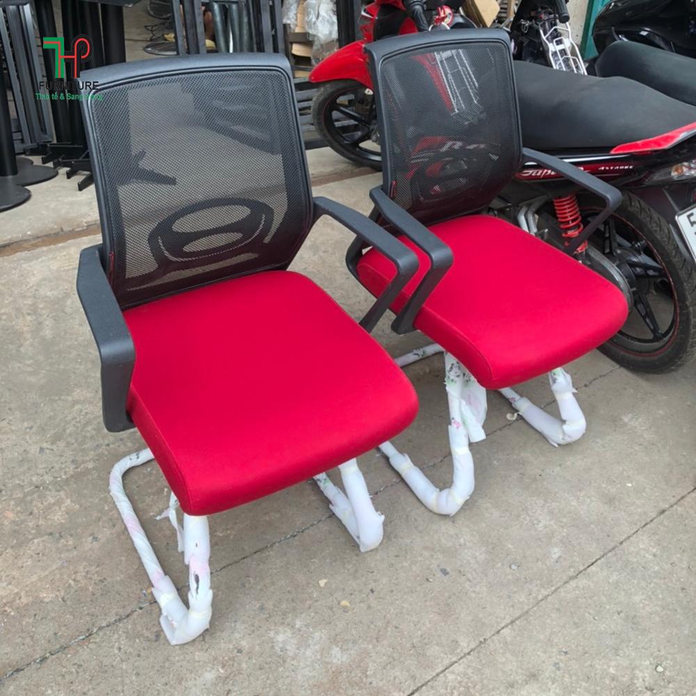ghế lưới chân quỳ màu đỏ