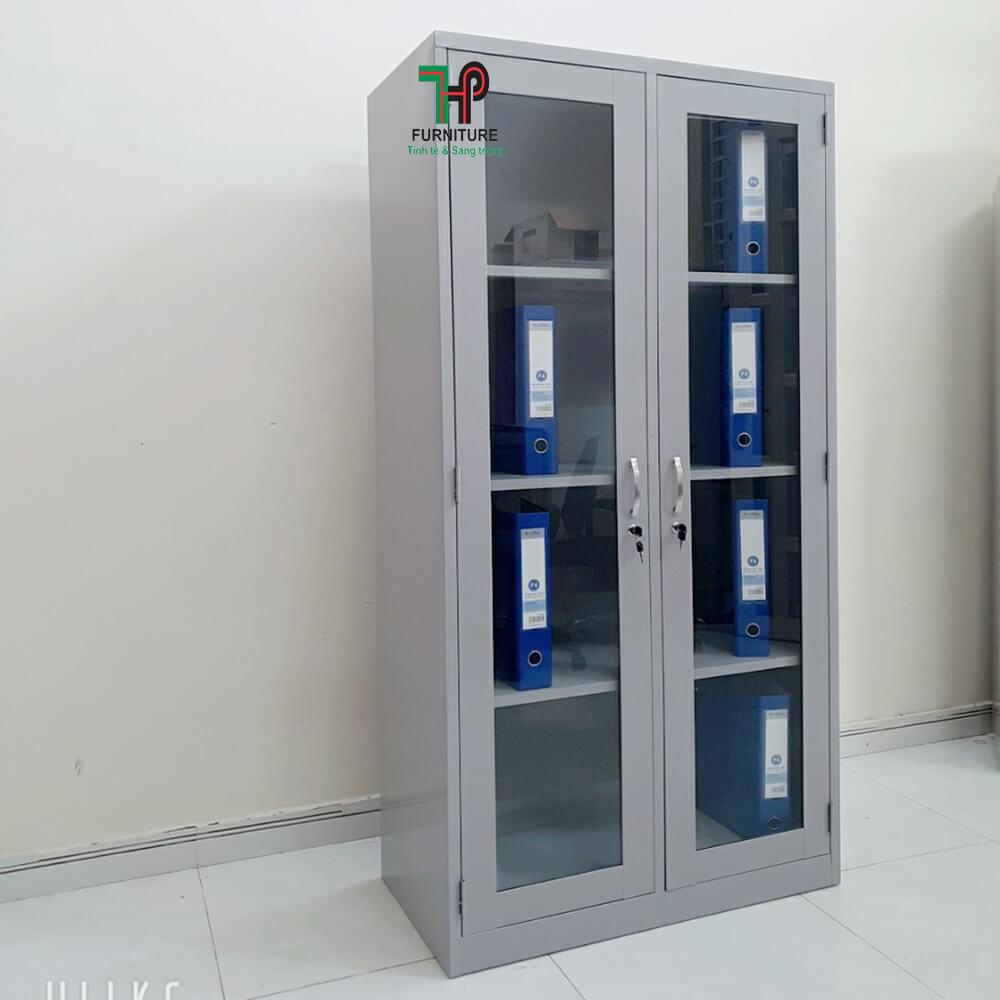Tủ sắt hồ sơ 2 cánh kính