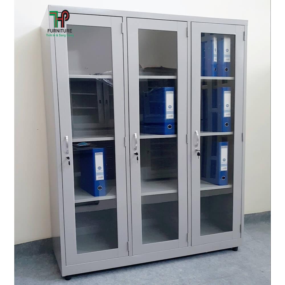 Tủ sắt hồ sơ 3 khoang kinh